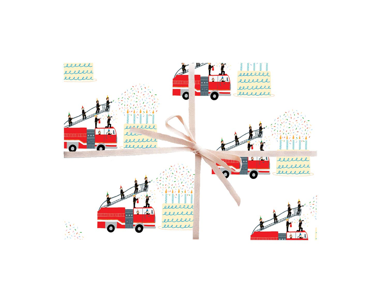 Firetrucks Gift Wrap - Rolls and Sheets