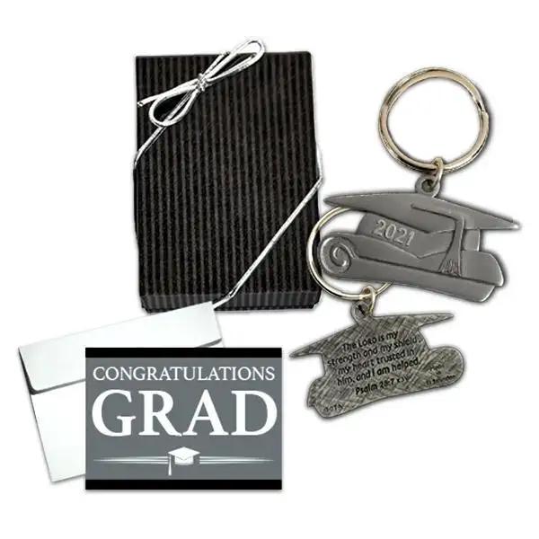 Graduation Keychain & Gift Box with Card