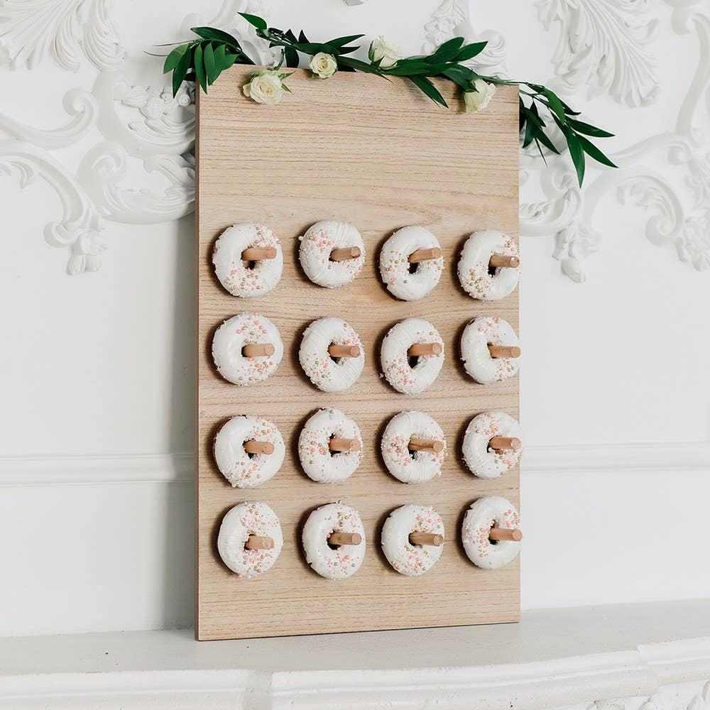 Wooden Donut Wall Display - Blank