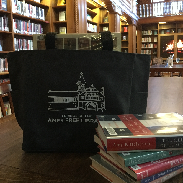 Friends of the Ames Free Library Tote Bag