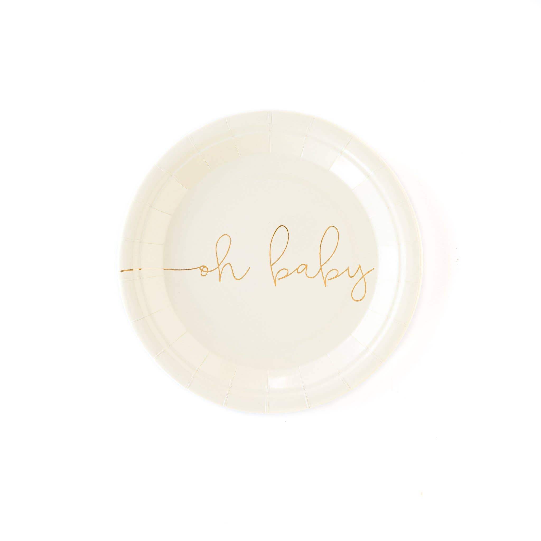 """Oh Baby 7""""  Plates 8ct"""