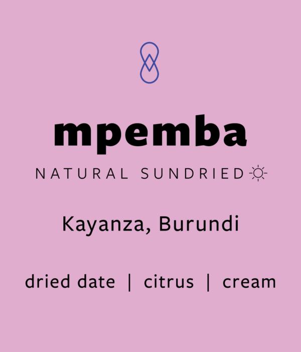 Mpemba – Natural Sundried (Burundi)