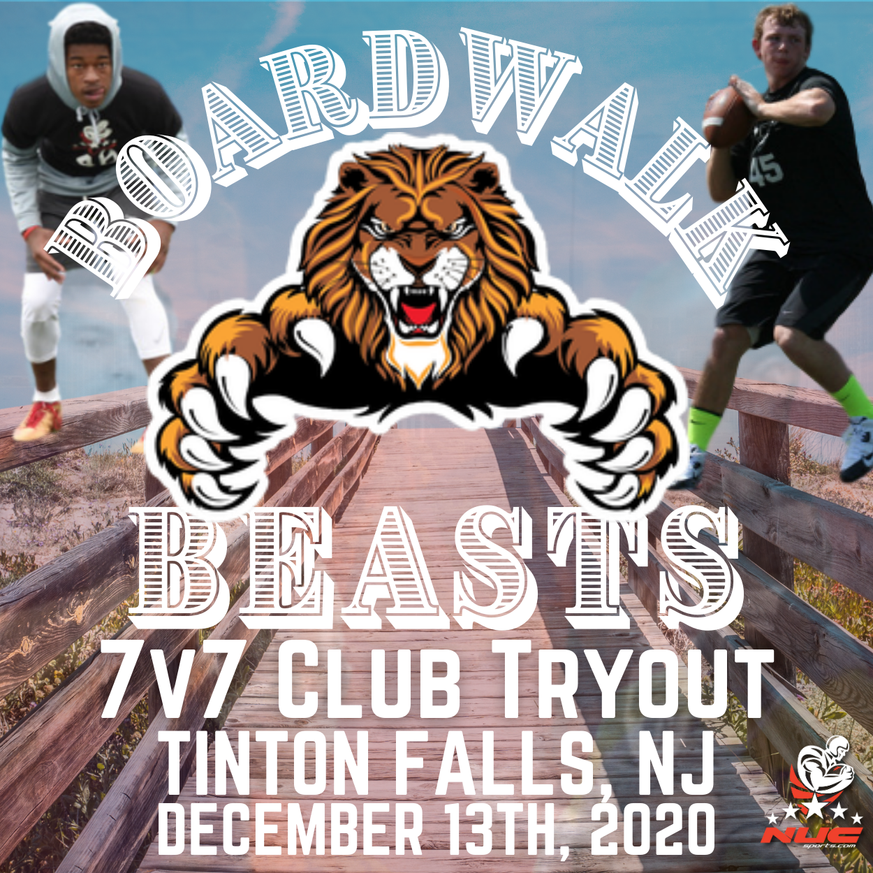 Boardwalk Beasts 7v7 Tryout-SOLD OUT