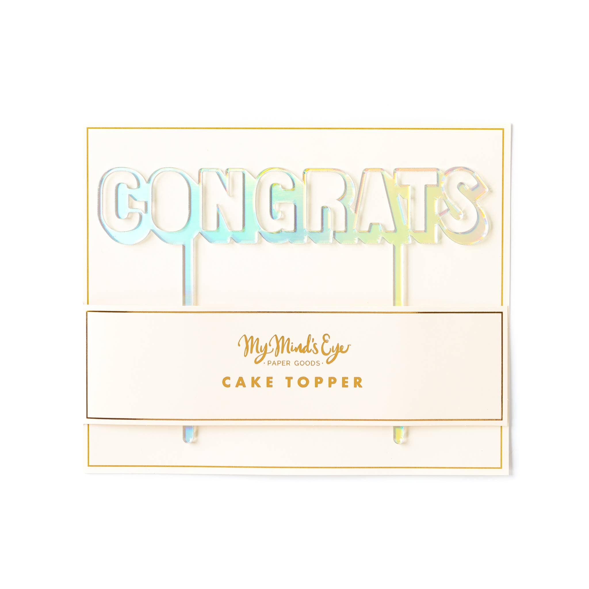 Basic Congrats Cake Topper - Holographic