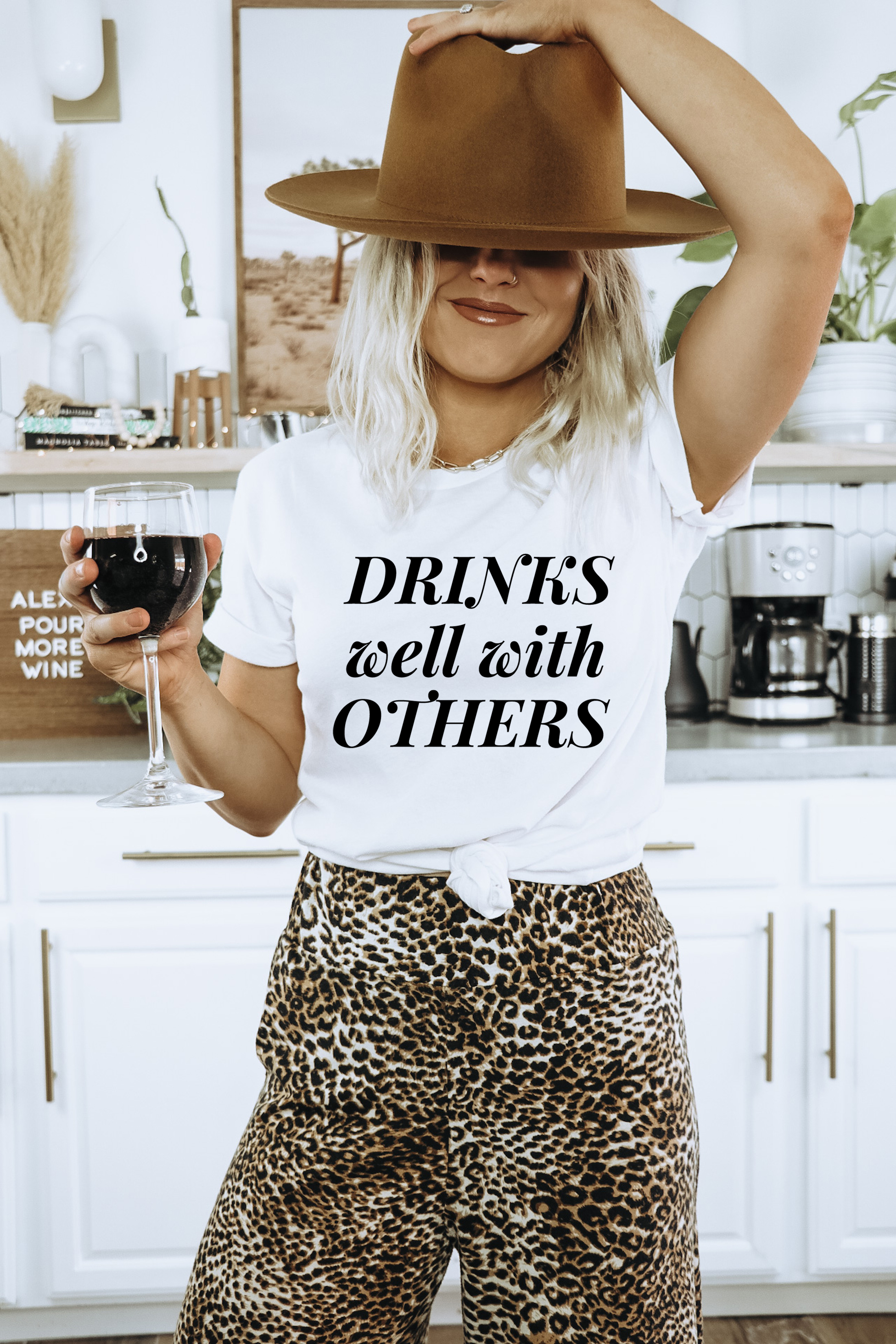 Drinks Well With Others T- Shirt
