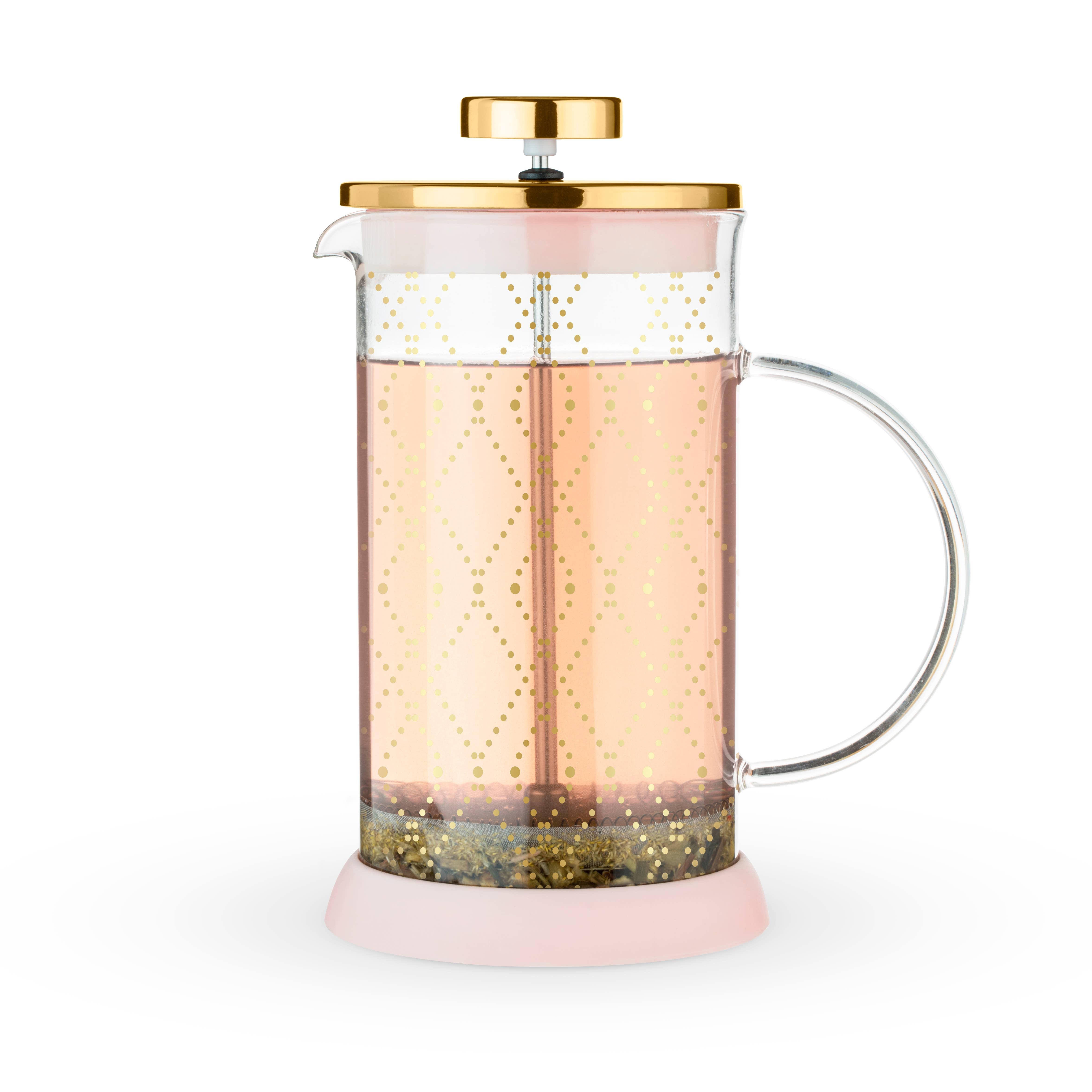 Riley™ Mini Souk Gold Glass Tea Press Pot by Pinky Up®