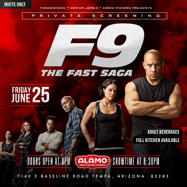 F9 The Fast Saga Private Screening (Food & Drink Included)