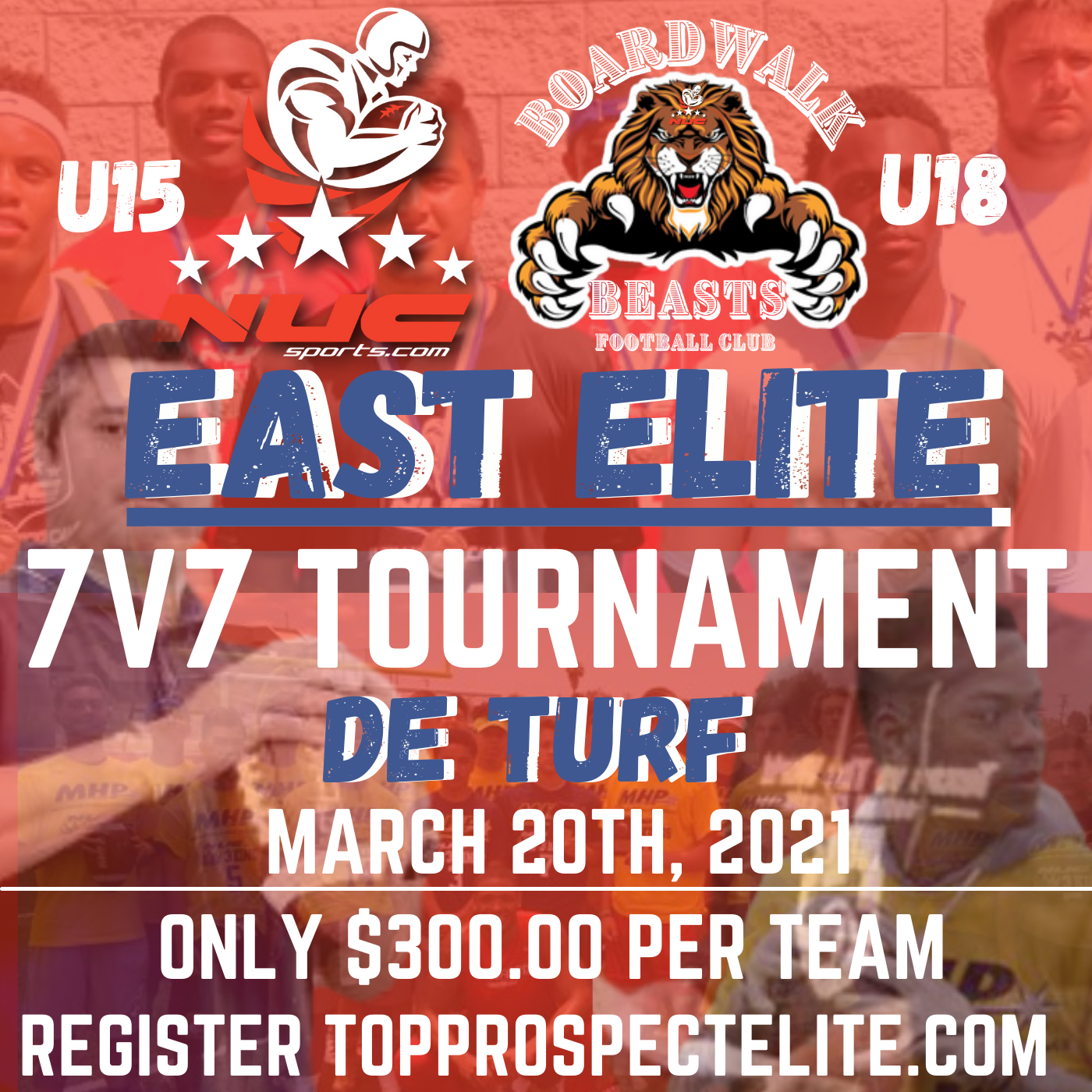 East Elite 7v7 Tournament for U15 and U18
