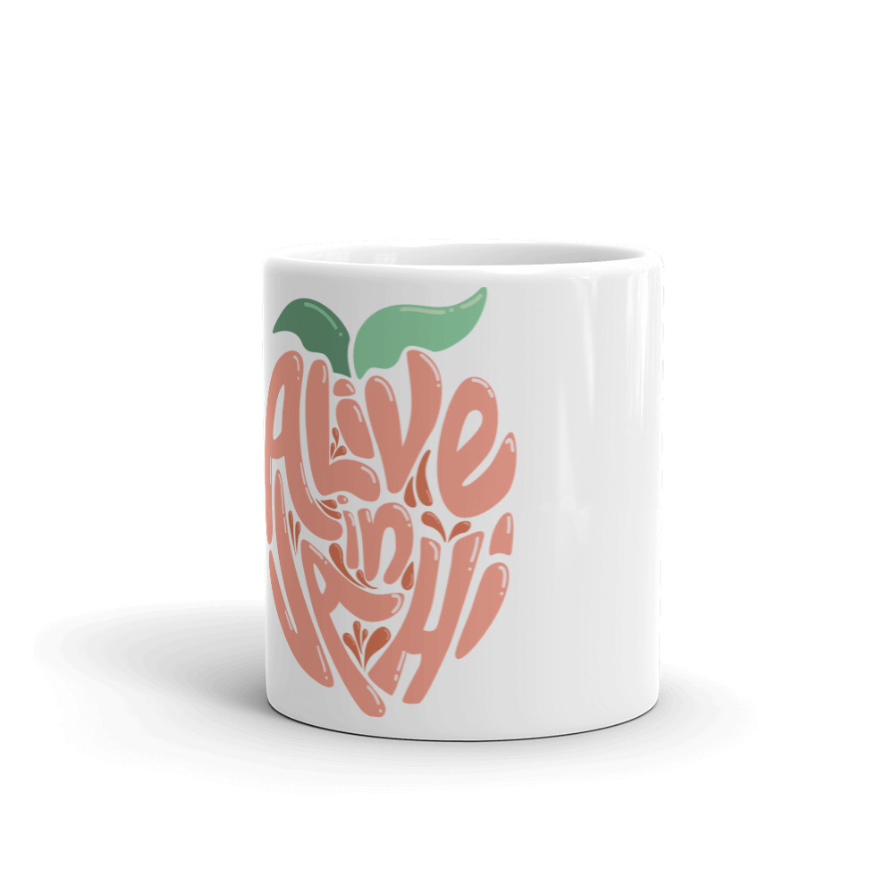 Online Alive in VAHI White mug
