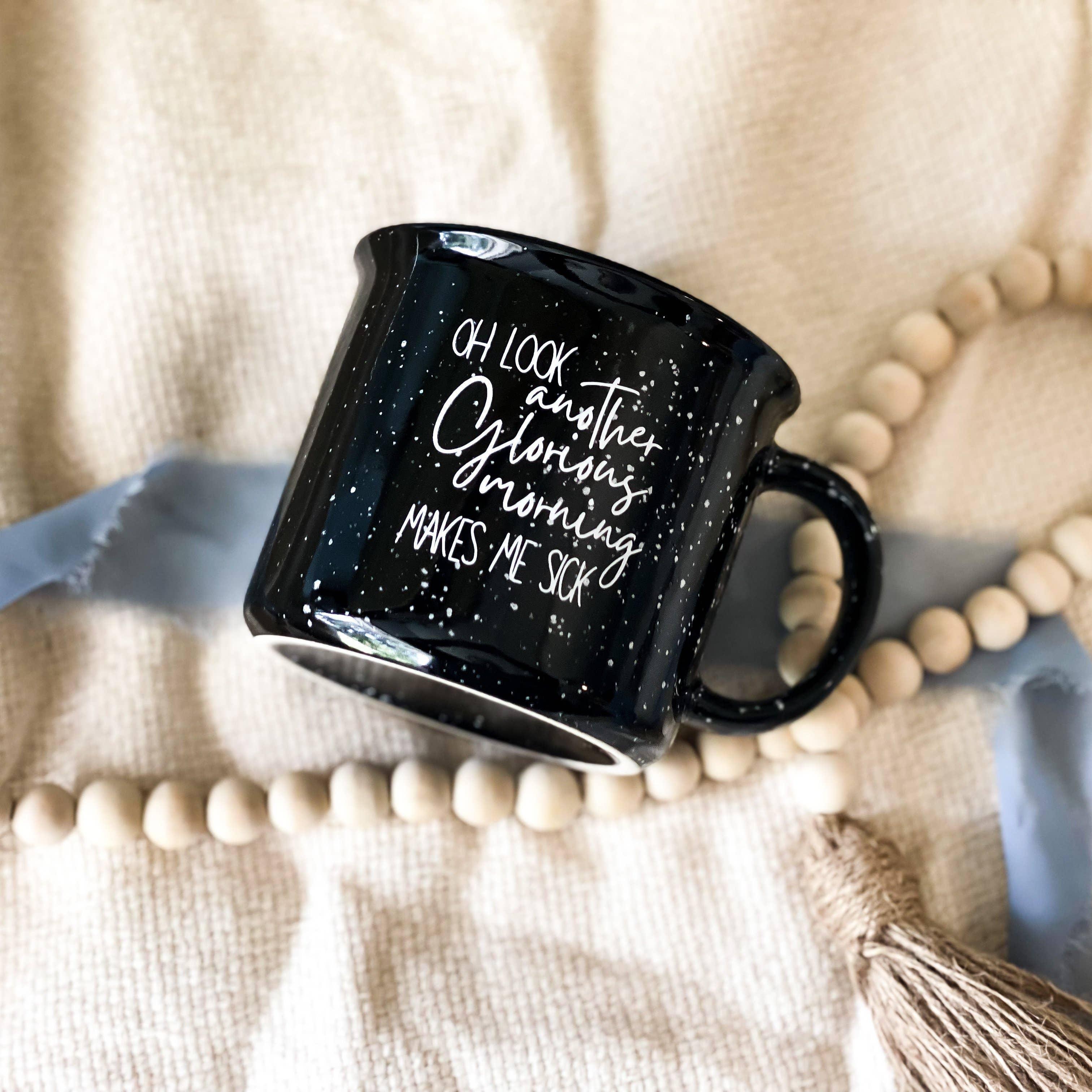 Black Glorious Morning Hocus Pocus Camper Mug