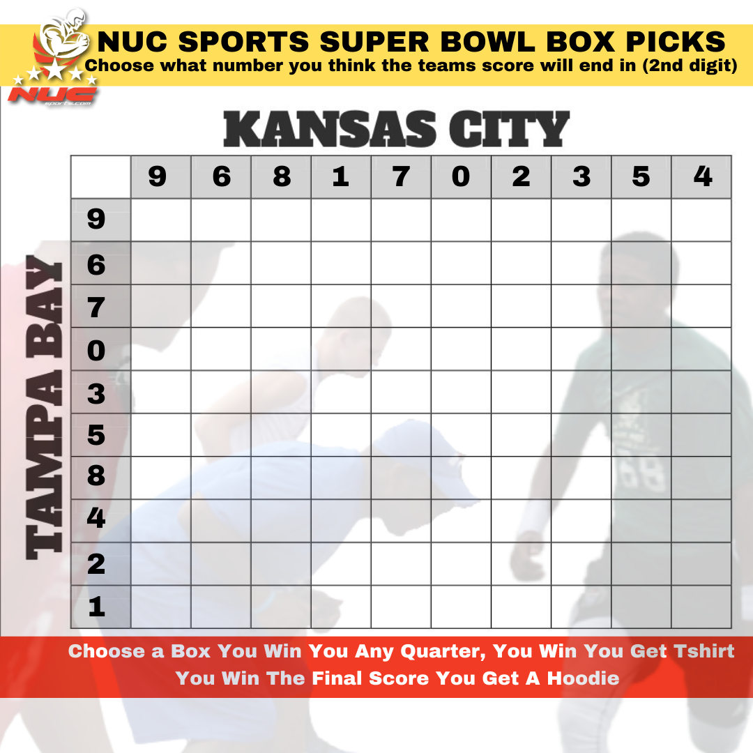 NUC Sports Super Bowl Box For Prizes: Free To Enter