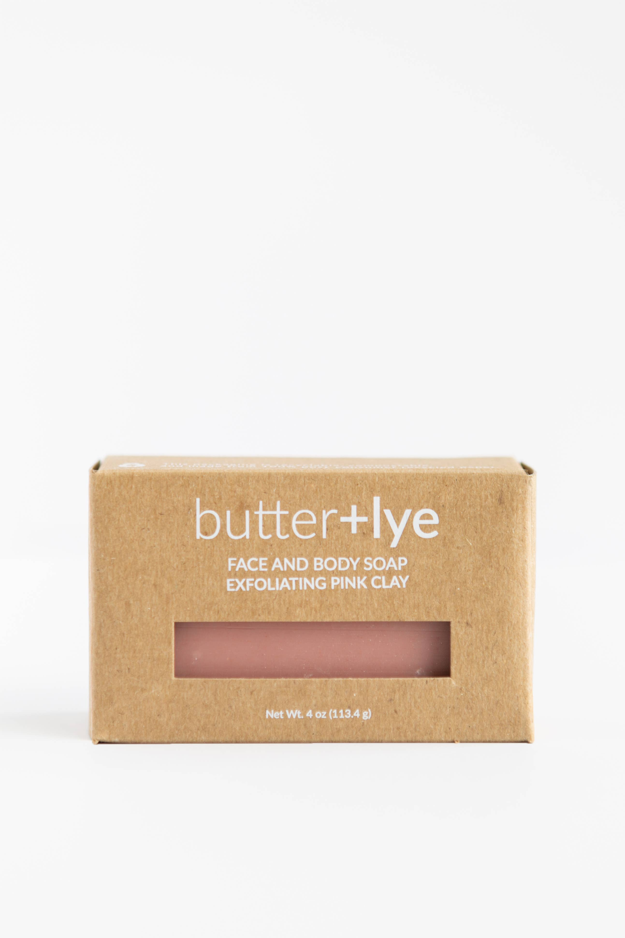 Exfoliating Pink Clay Face and Body Soap