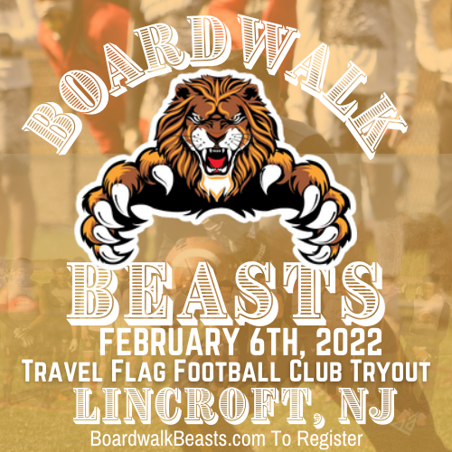 Boardwalk Beasts Travel Flag Football Club Tryout All Age Tryout With Their Age Group
