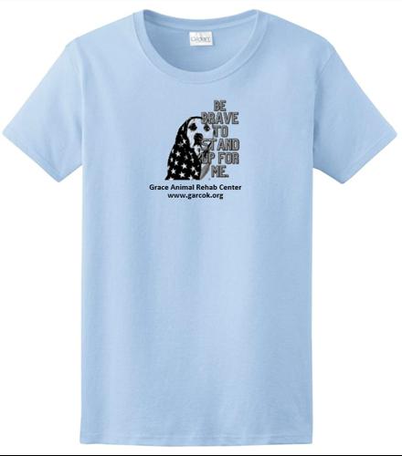 Light Blue T-shirt - Grace Animal Rehab Center