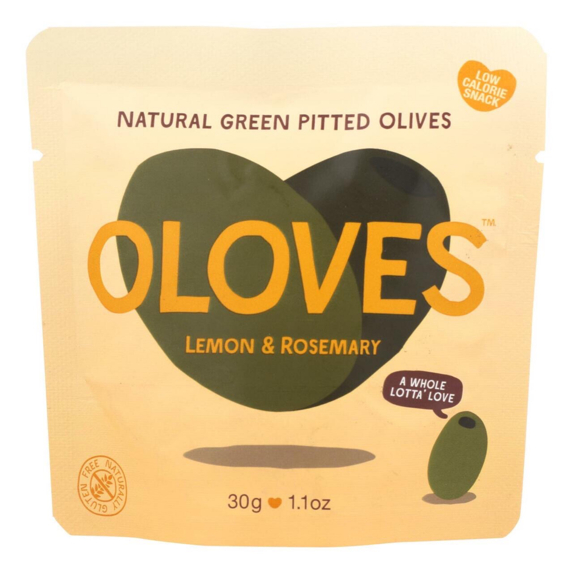 Oloves Green-Pitted Lemon and Rosemary Olives 1.1 oz