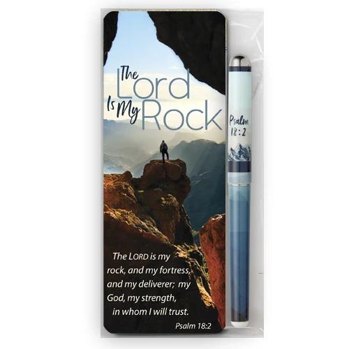The Lord Is My Rock Jumbo Bookmark & Pen Gift Set