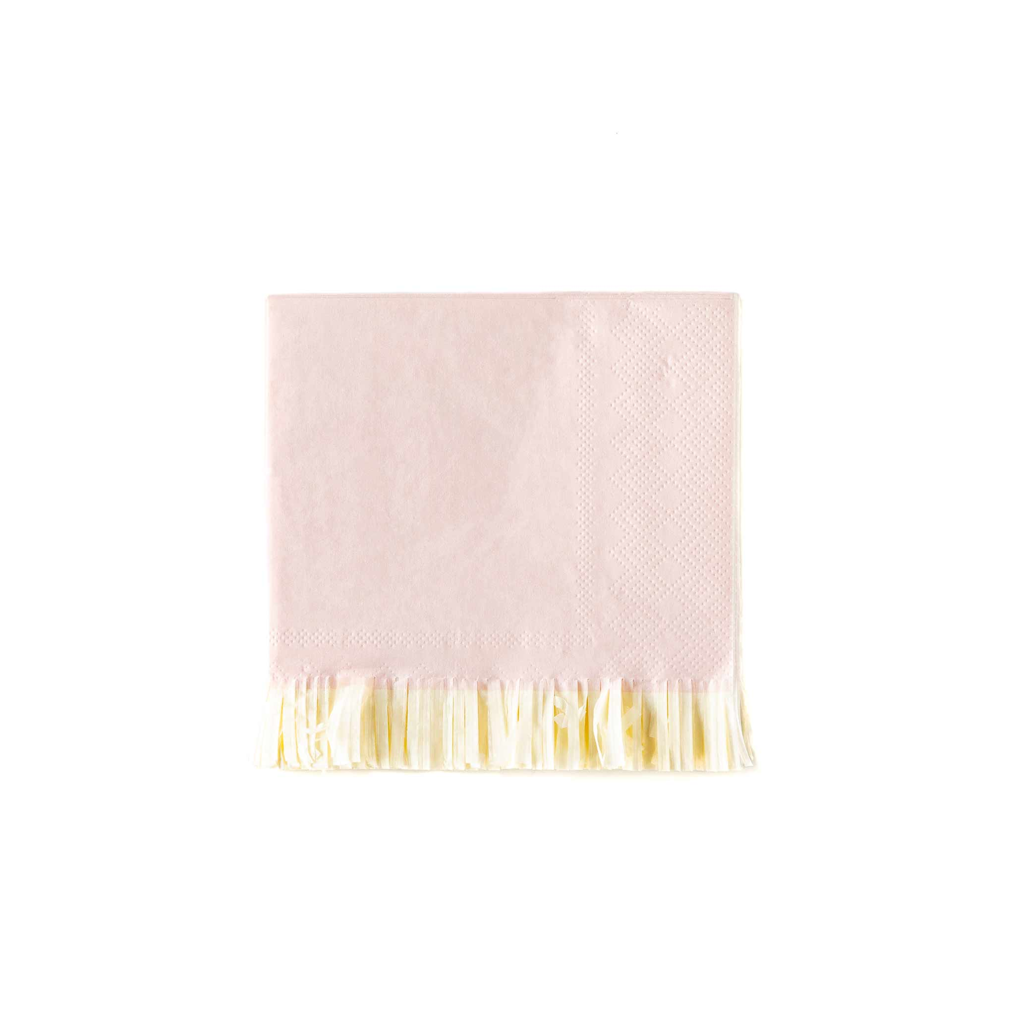 Baby Pink Fringed Cocktail Napkins 25ct