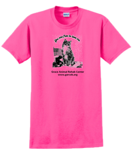 Pink T-shirt --  Free to love