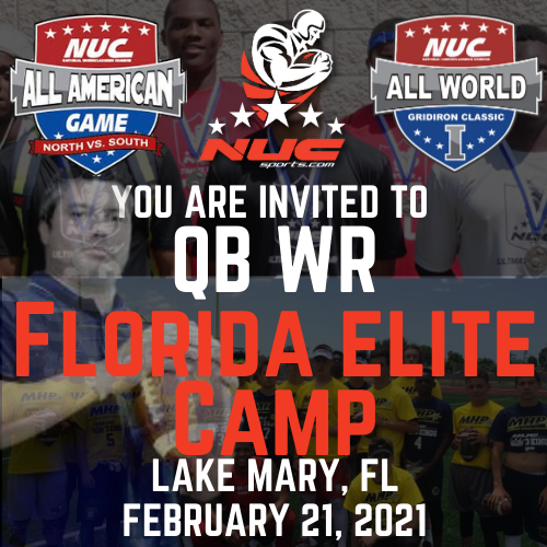 Coach Schuman's QB WR Florida Elite Camp & Challenge, February 21, 2021 Lake Mary, FL