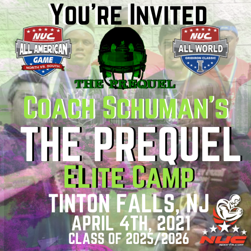 Coach Schuman's The Prequel Elite Prospect Camp, April 4th, 2021 Tinton Falls, NJ