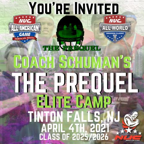 Coach Schuman's The Prequel Elite Prospect Camp, April 4th, 2021 Tinton Falls, NJ