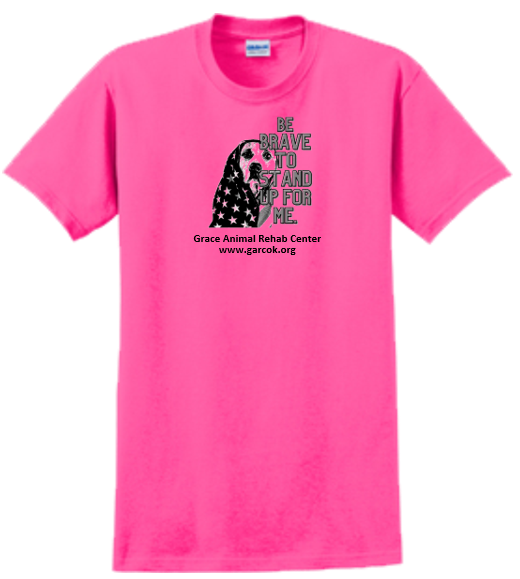 Pink T-shirt --  stand up for me