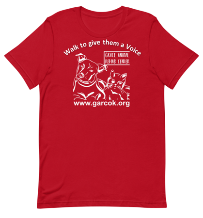 Red T-shirt - Grace Animal Rehab Center