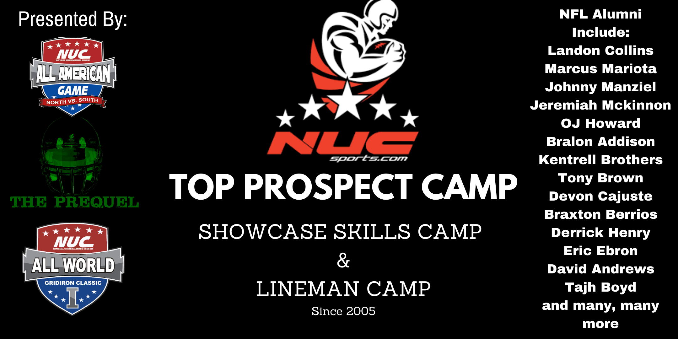 Coach Schuman's NUC Sports Top Prospect Camp July 17th & 18th, 2021 Atlanta, GA