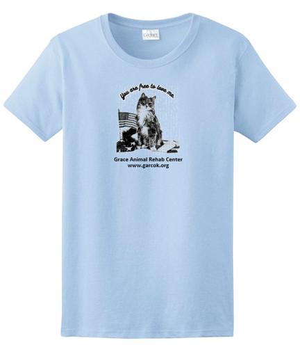 Light Blue T-shirt --  Free to love