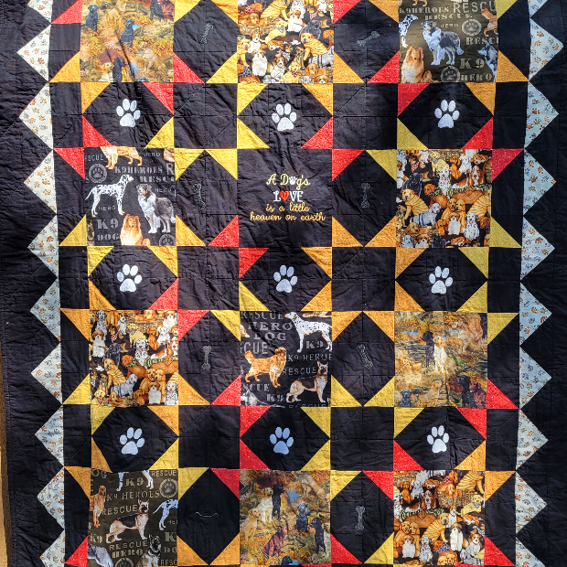 A Dogs Love Quilt Raffle