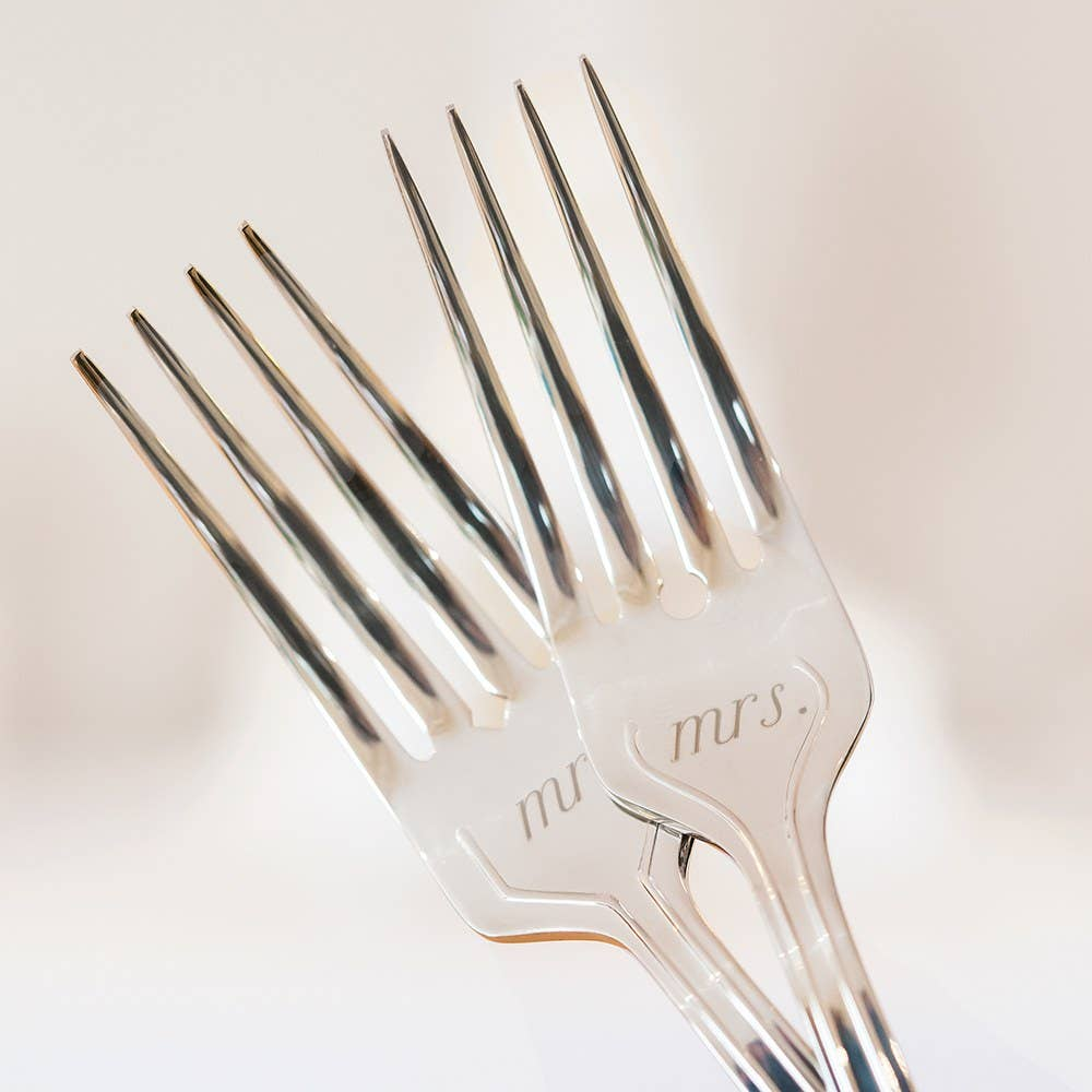 Mr. & Mrs. Cake Fork Set