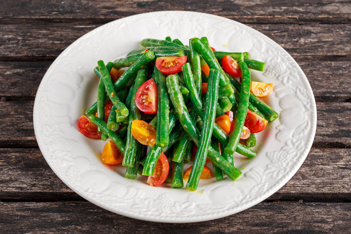 Green Bean and Hemp Seed Bowl with Citrus Dressing