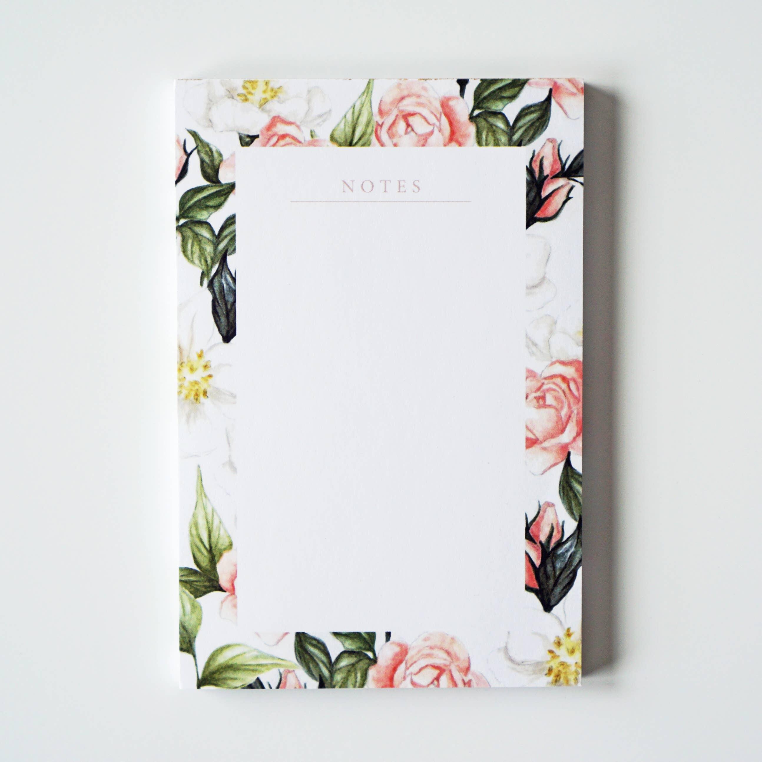 Garden Floral Blank Notepad