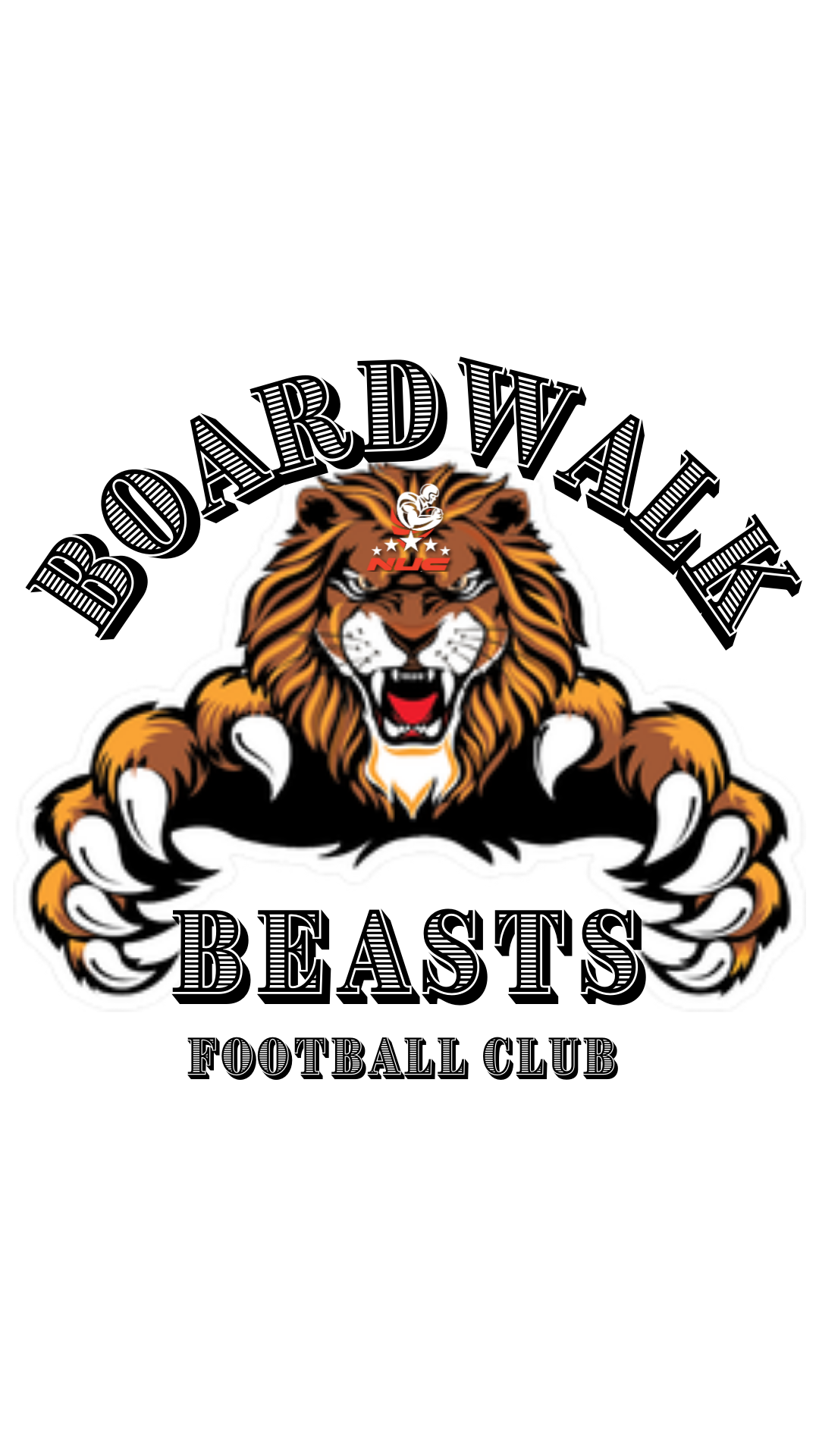 Boardwalk Beasts Uniform and Gear For Team Members for 7v7 Football Club