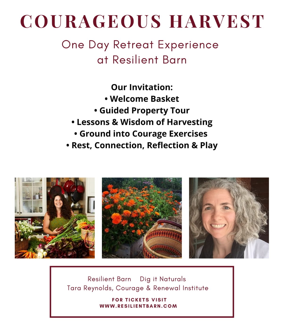 Courageous Harvest - Tickets