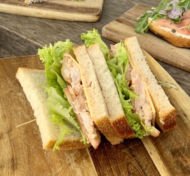 Bacon & Chicken Club Sandwich