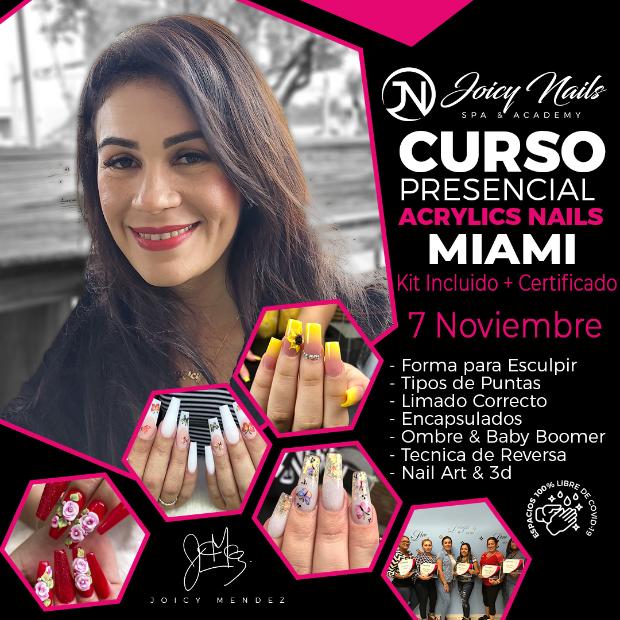 Reserva Curso uñas acrilicas MIAMI 11/7/2021