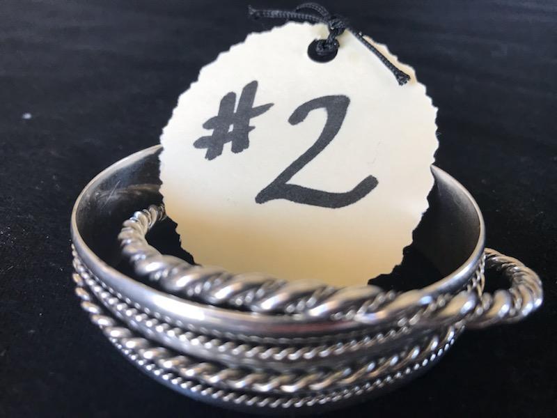 #2-Two silver bracelets