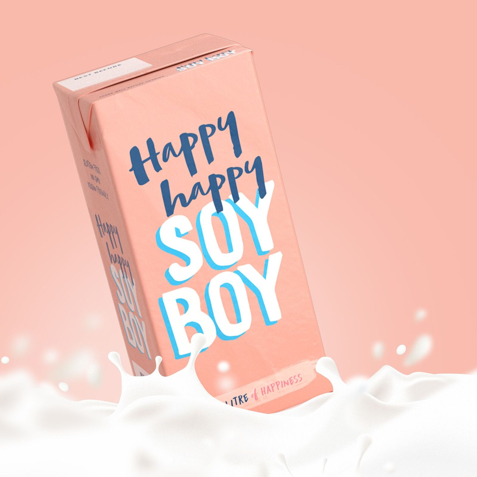 Happy Happy Soy Boy Milk 1L