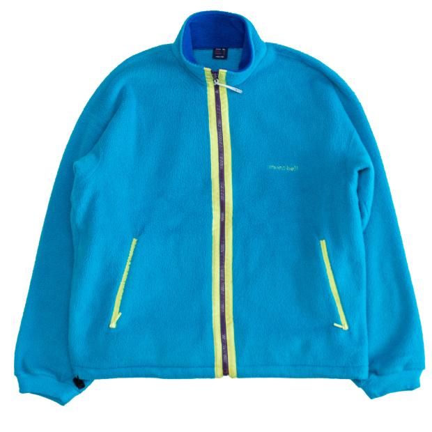 ナイロンシェル内蔵フリースジャケット(ブルー×イエロー×パープル)