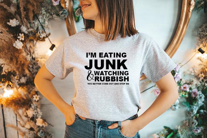 I'm Eating Junk t-Shirt Small