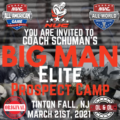 Coach Schuman's Big Man Elite Camp & Prospect Showdown, March 21st, 2021 Tinton Falls, NJ