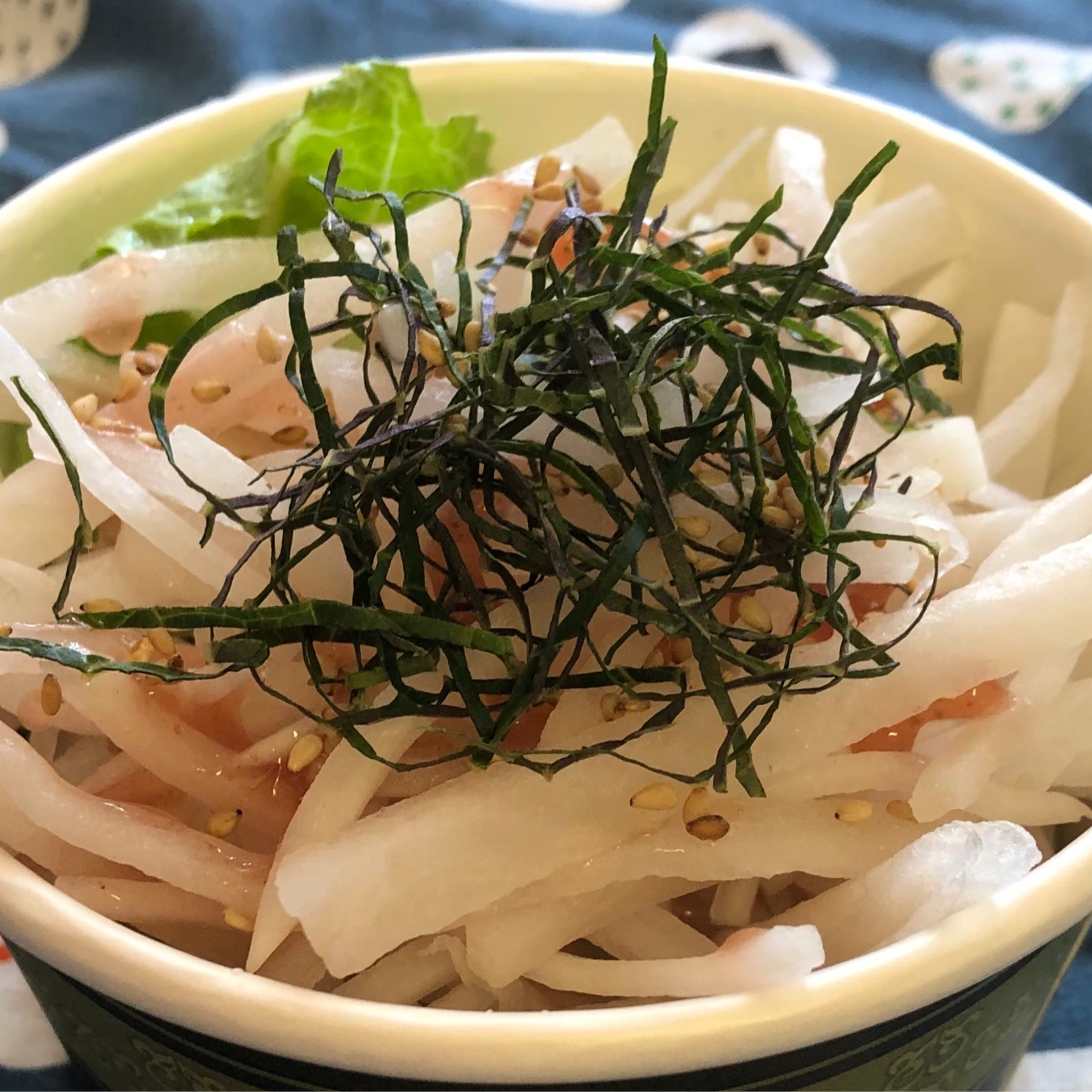 Daikon Ume Salad with Homemade Ponzu Dressing