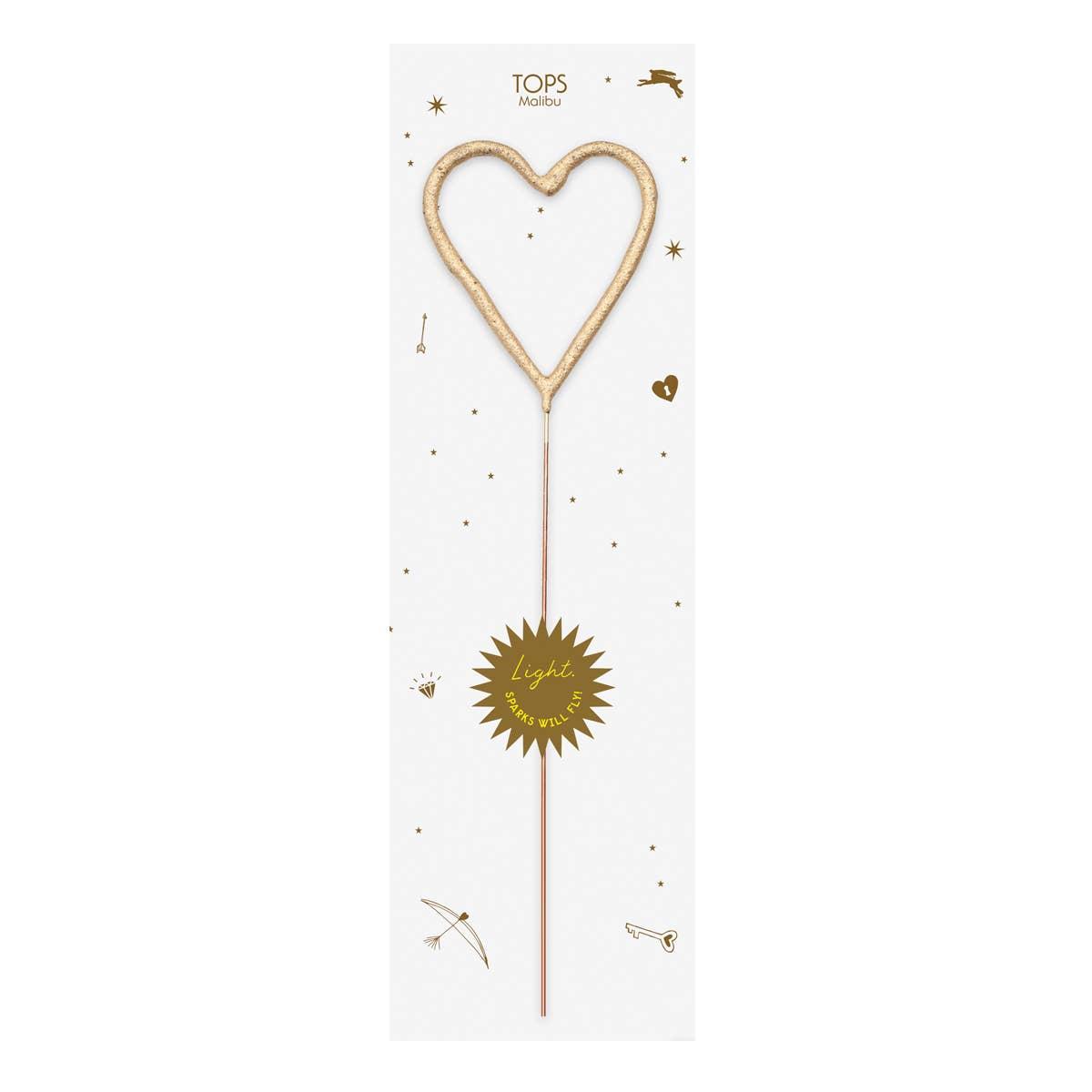 Big Golden Sparkler Wand Heart