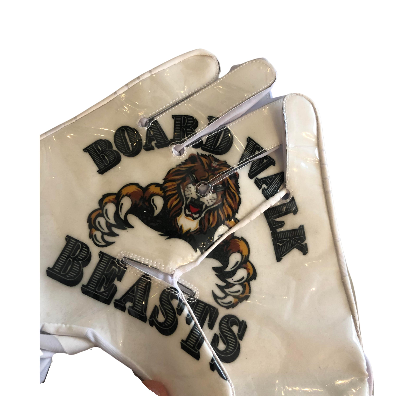 White Boardwalk Beasts Gloves