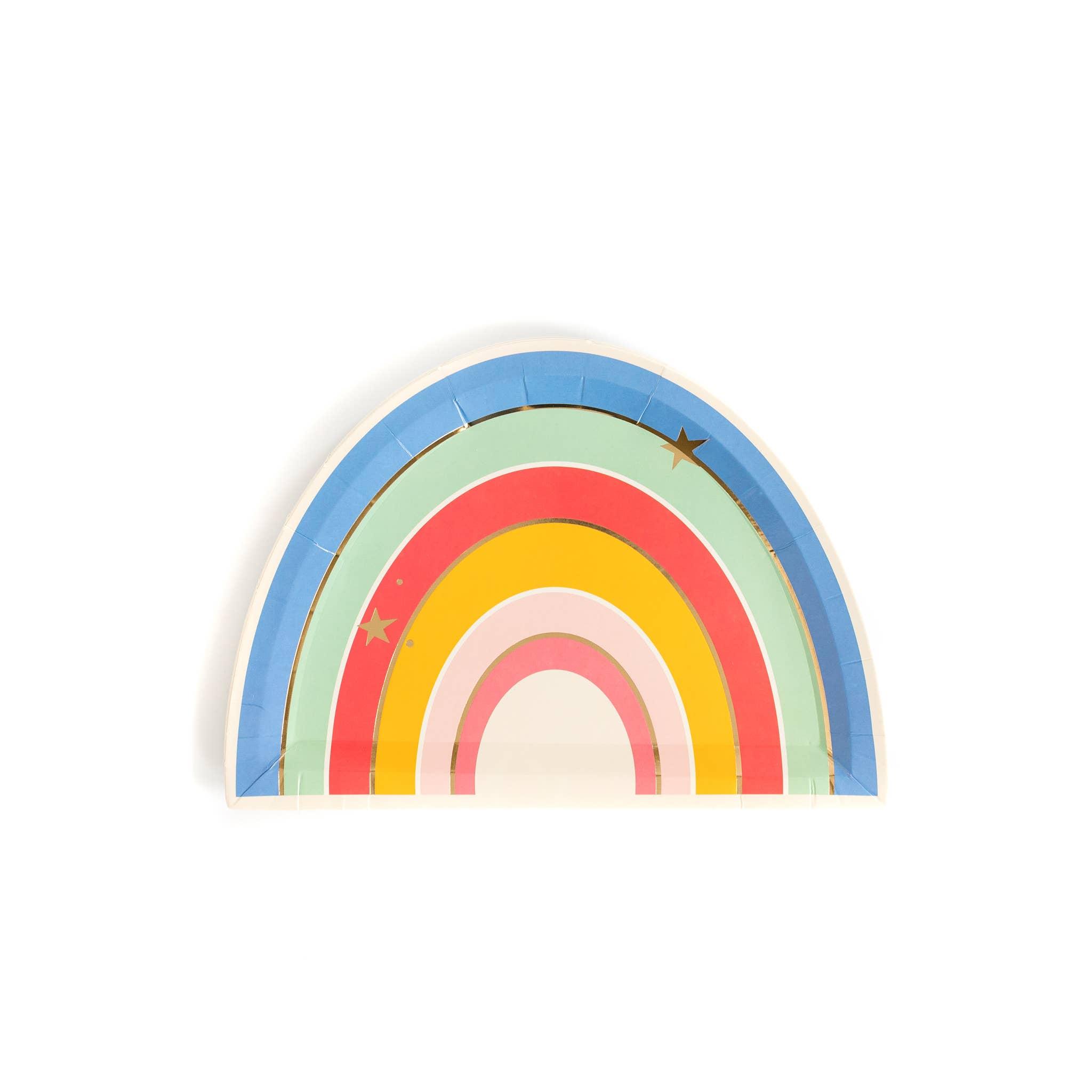 """Magical Rainbow 9"""" Plates"""