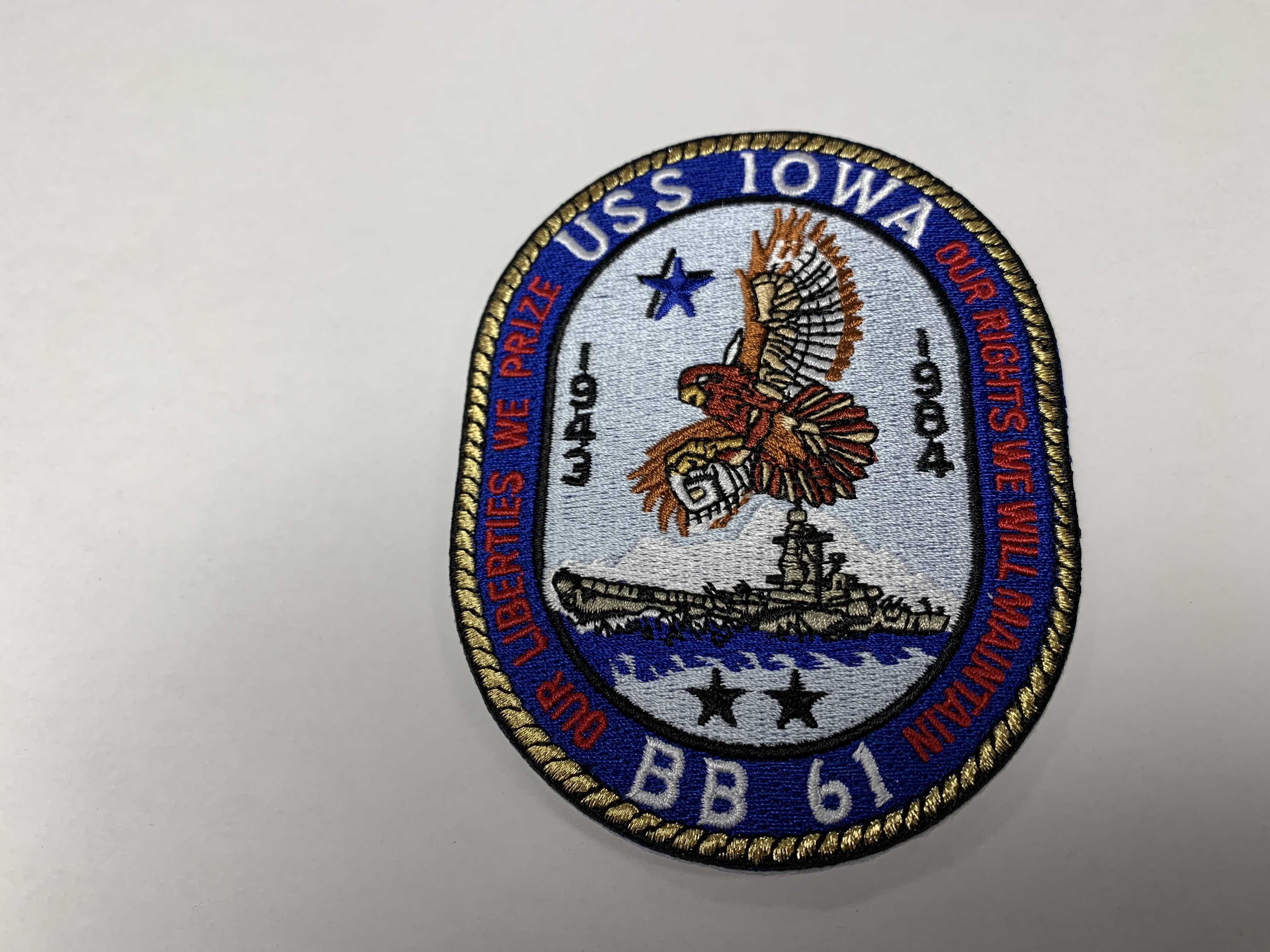 Patch - Cloth USS IOWA Crest