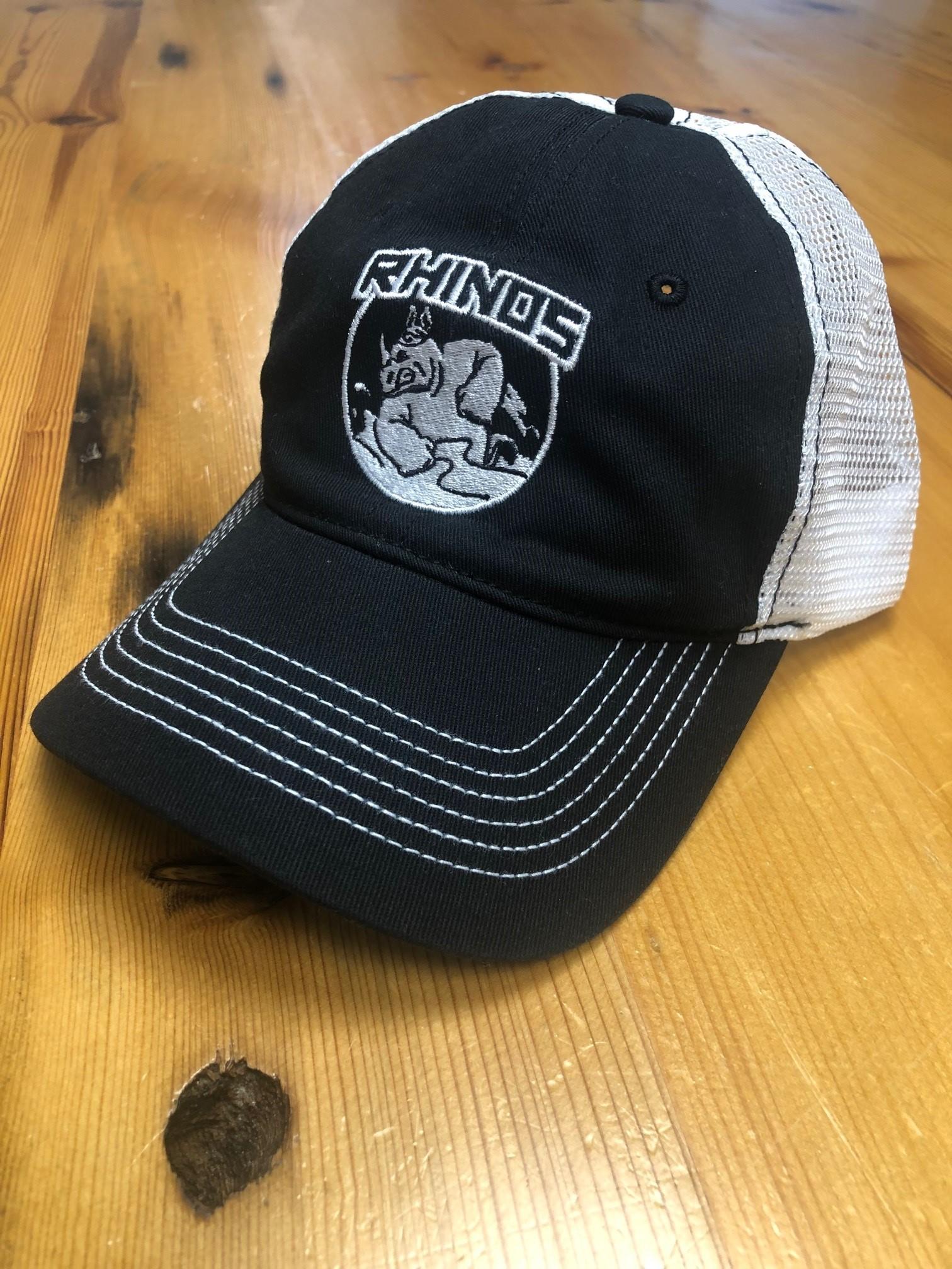 OTR Rhinos Trucker Hat, Black