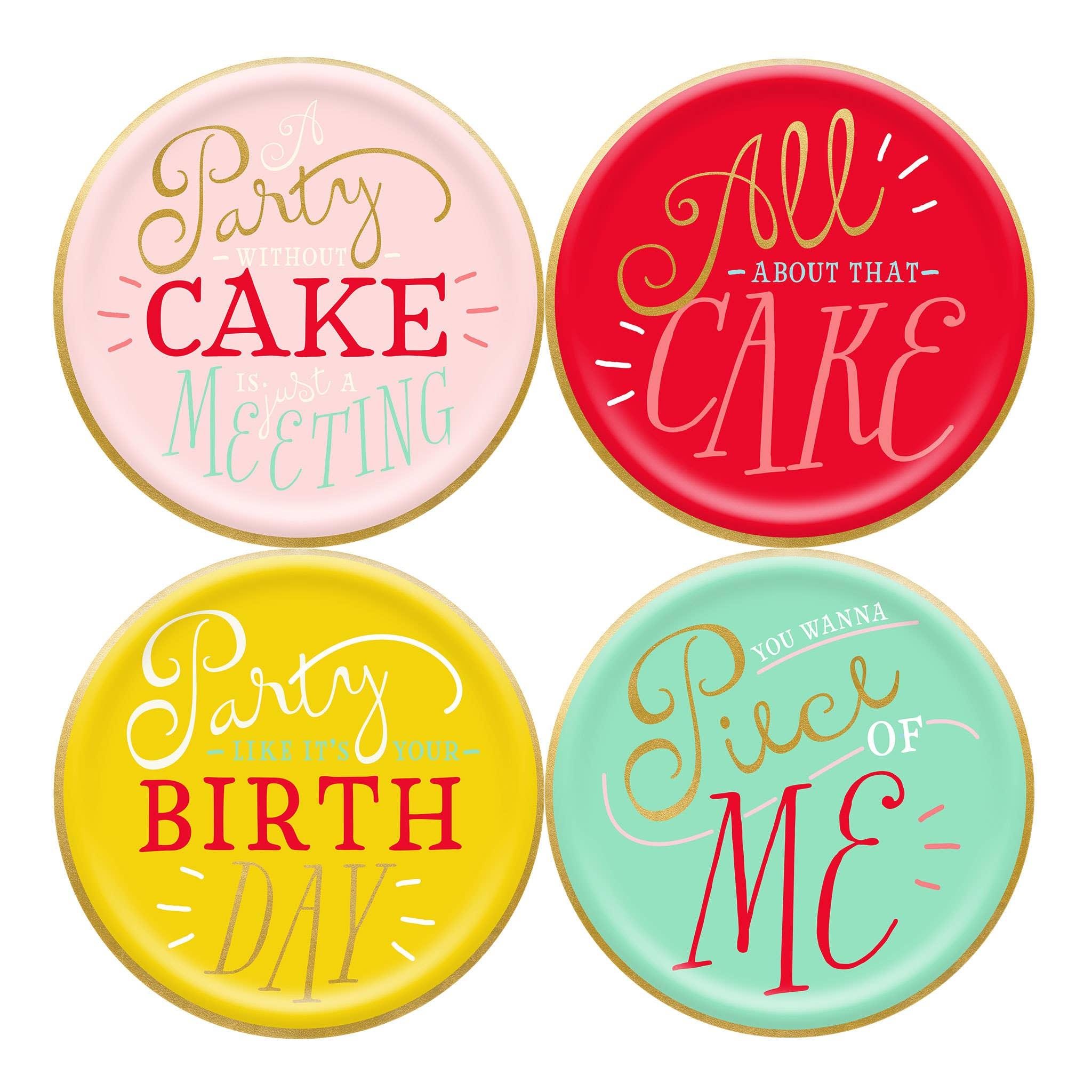 "Hip Hip Hooray Birthday 7"" Plates"