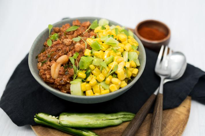 Chilli Turkey, Broccoli and Corn